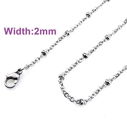 (Link Chain Necklace | Stainless Steel Chains Simple Silver/Black Chain Necklace | Jewelry Making 18'' 20'')
