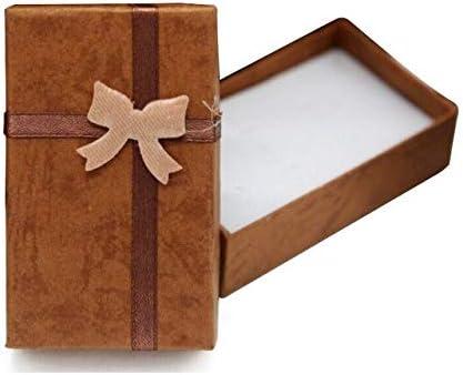DIU 5 Unids Joyería Anillo Pendiente Collar Paquete de Exhibición de Regalo Cartón Caja Linda Caja marrón: Amazon.es: Hogar