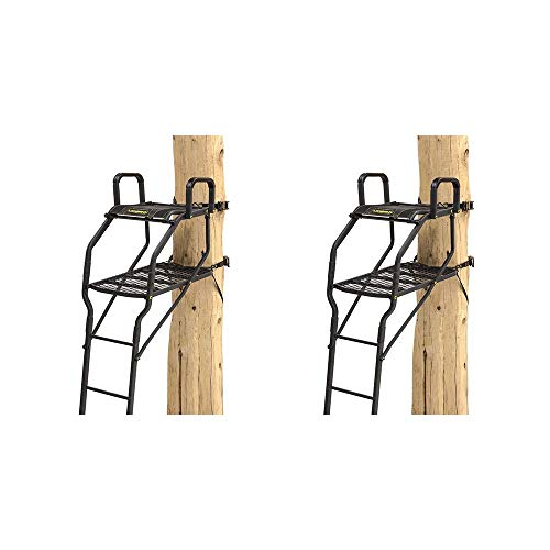 Rivers Edge Lockdown Bow Pro 1 Man Deer Hunting Tree Ladder Stand (2 - Ladder 1 Man Stand