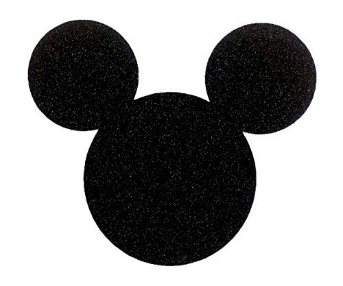 Disney Mickey Mouse Black Glitter Die Cut Stickers Jumbo 7 Inch Size