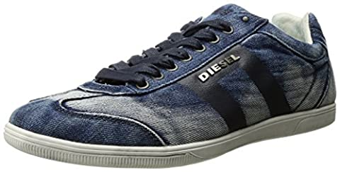 Diesel Men's Happy Hours Vintagy Lounge Sneaker, Indigo, 9 M US (Men Diesel Top)