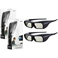 2X New Original Black Sony TDG-BR250 Active Shutter 3D Glasses for Bravia HDTV