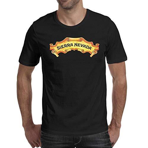 (ubnbhi Sierra Nevada Brewing Logo Men Black T-Shirts O-Neck Short Sleeve Cotton)
