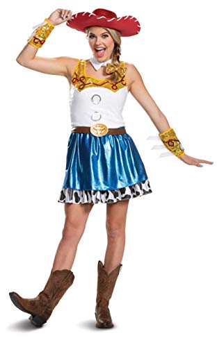 Disguise Disney Pixar Toy Story Jessie Glam Womens Adult Costume, Blue/White/Yellow/Black, X-Large/18-20]()
