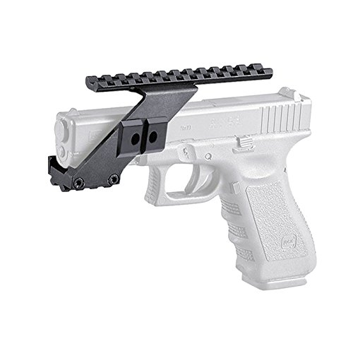 Weaver Picatinny Top /& Bottom Pistol Handgun Scope Mount for Sights,Lights /& Accessories Fits Glock Pistols with Front Accessories NOT PLASTIC FIRECLUB Tactical Precision Machined Aluminum