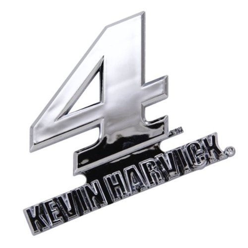 amazoncom kevin harvick 4 silver chrome colored auto emblem decal nascar racing sports outdoors
