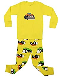 "Babylike ""tractor"" little boys 2 Piece Pajama 100% Cotton(Size 2-7 Years)"
