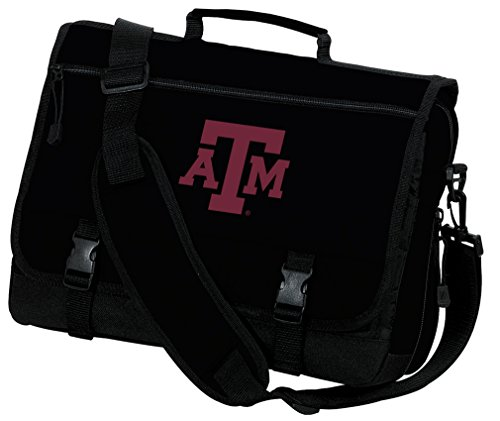 Texas A&M Laptop Bag Texas A&M Aggies Computer Bag or Messenger Bag by Broad Bay