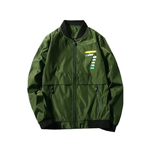 Howme Verde Impermeabile Uomini Autunno Giacca Baseball Leggero zip Volo wqfrSw10