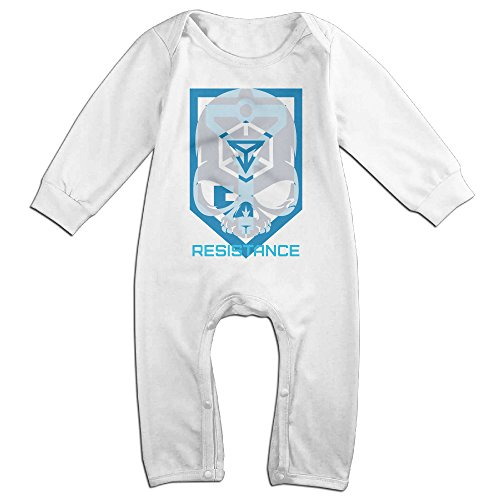 (Ellem Cute Ingress Alternate Resistance Faction Bodysuit Toddler White Size 6)
