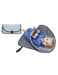 SnoofyBee Portable Clean Hands Changing Pad. 3-in-1 Diaper Clutch, Changing Station, and Diaper-Time Playmat With Redirection Barrier for Use With Infants, Babies and Toddlers (Arrows) BOBEBE Online Baby Store From New York to Miami and Los Angeles