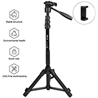 Sobrovo Camera Monopod 70 Removable Aluminum Telescoping Camera Tripod With Pan-Head For Canon Nikon DSLR DV Quick Release Plate Including Carrying Bag