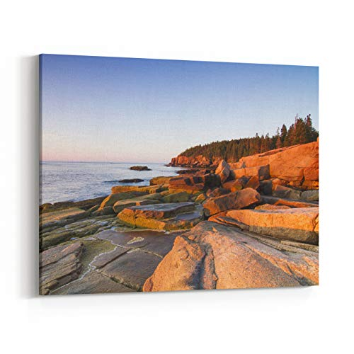 (Rosenberry Rooms Canvas Wall Art Prints - Marine Landscape in Acadia, Park Loop Road, Acadia National Park, Maine (20 x 16 inches))