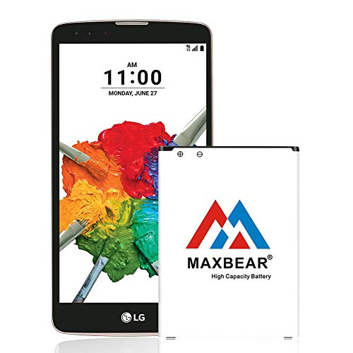 LG Stylo 2 Plus Battery,MAXBEAR [3200mAh] Replacement Li-ion Battery for LG Stylo 2 Plus MS550 K550 LS775 LTE| LG BL-45B1F Spare Battery [12 Month Warranty]