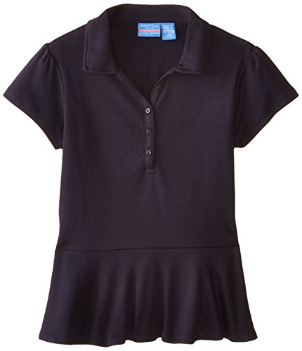 Nautica Uniform Sleeve Interlock Peplum