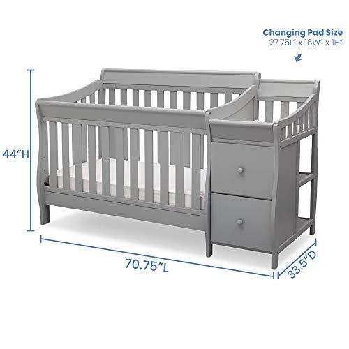 41FYDUBv9FL - Delta Children Bentley S Convertible Crib And Changer, Grey