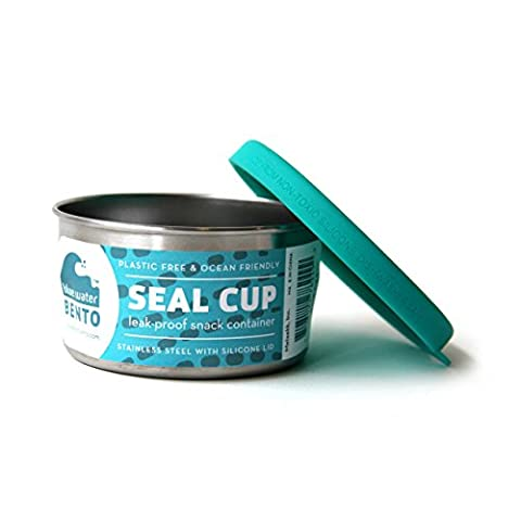 ECOlunchbox Blue Water Bento Seal Cup Solo Lightweight Stainless Steel Food Container – Leak-proof and Plastic Free