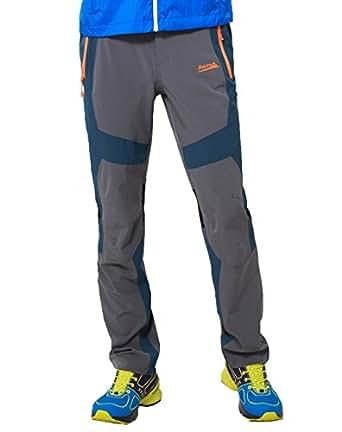 Men's Waterproof Quick Dry Trouser with Zipper Pocket for Trekking by Makino (Grey W31/L30)