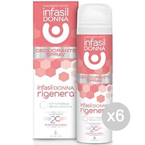 Set 6 INFASIL Deodorante Spray Donna Rigenerante 150 Ml Cura E Igiene Del Corpo 7438634617432