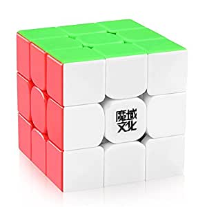 D-FantiX Moyu Weilong GTS V2 M Magnetic Speed Cube 3x3 Stickerless, Weilong GTS2 M Magic Cube Puzzle