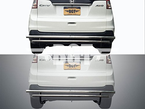 BGTRG-1018-223SS 07-11 HONDA CRV REAR BUMPER GUARD DOUBLE LAYER S/S (Honda Crv Rear Bumper Guard compare prices)