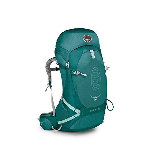 Cordura Frame Internal Pack (Osprey Women's Aura AG 50 Backpack (2017 Model), Rainforest Green, Medium)