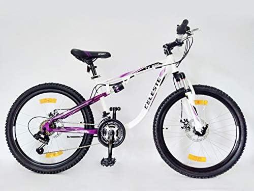 VTT Bicicleta de montaña de 24 Pulgadas con Doble Freno de Disco ...