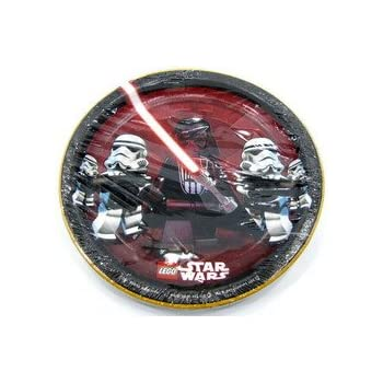 LEGO Star Wars Large Paper Plates (8ct)  sc 1 st  Amazon.com & Amazon.com: LEGO Star Wars Large Paper Plates (8ct): Toys u0026 Games