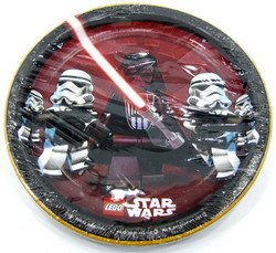 LEGO Star Wars Large Paper Plates (8ct) (Lego Halloween Costumes)