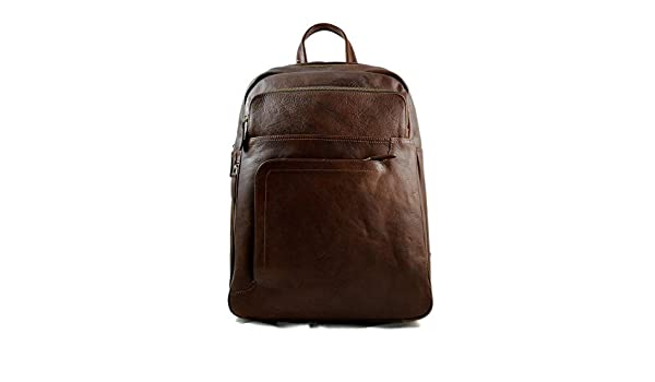 Amazon.com: Leather dark brown backpack genuine leather travel bag weekender sports bag gym bag leather shoulder ladies mens satchel light backpack: ...