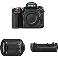 Nikon D750 FX-Format DSLR Camera with 55-200mm Lens Battery Bundle