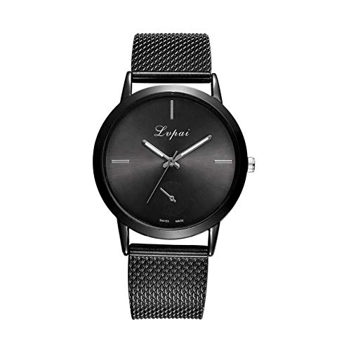 Womens Watches - Fashion Alloy Belt Mesh Watch Unisex Womens Watches Minimalist Style Quartz Watch relogio