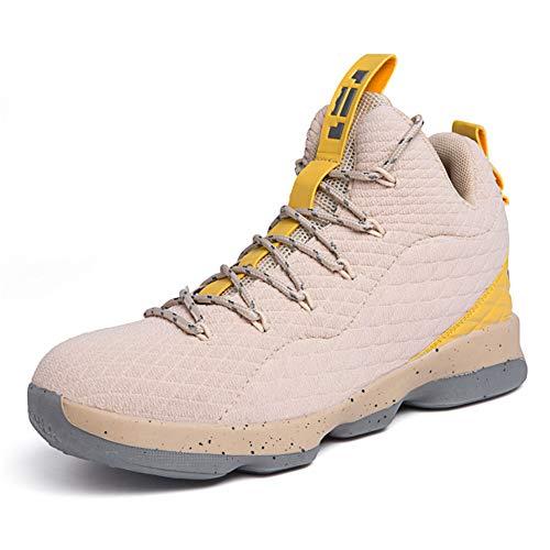 Ginnastica Fitness Alto Corsa Basket Da Collo A Sneaker Scarpe Sportive Cachi Tqgold Uomo Ua1EBv