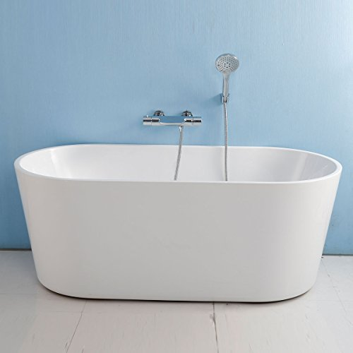 BHBL 62 In Seamless White Acrylic Freestanding Bathtub (C-AT-96675)