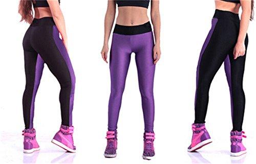Women's High Waist Stretch Skinny Shiny Spandex Leggings Pants Slim Fit Tights