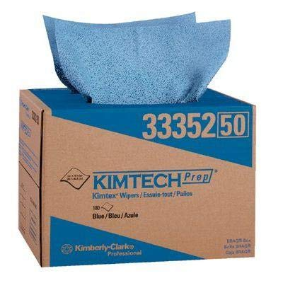 Kimtech Prep Kimtex Wipers - Kimberly-Clark Professional - Kimtech Prep Kimtex Wipers Kimtex Surface Preparation Towels Blue 180/Box: 412-33352 - kimtex surface preparation towels blue 180/box