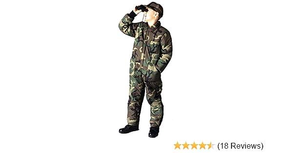 Kids Wood Camo Insulated Coveralls Boys Winter Overalls Camo Super Warm //XS-XL