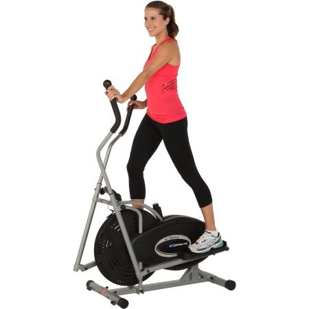 Exerpeutic Aero Air Elliptical. 260 Lbs Maximum Weight Capacity, Low-impact Upper & Lower Body Workout.