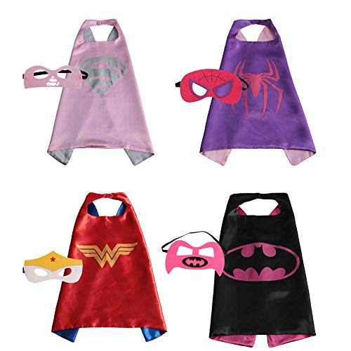 Child Super Hero Costume, Cape and Mask Set for Kids, Birthday Party DIY Children for $<!--$19.99-->