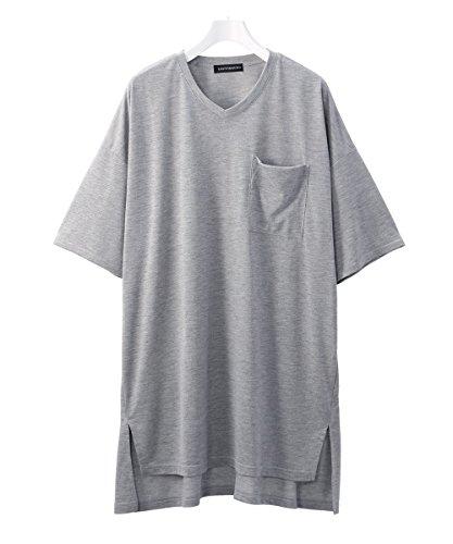 (ハッピーマリリン) 胸ポケット付き Vネック BIGTシャツ 【350557】