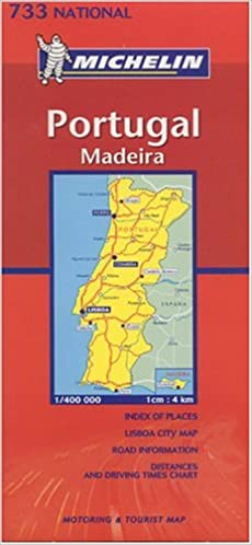 Michelin Portugal Folded Map Motorist Touring Map Michelin - Portugal map michelin
