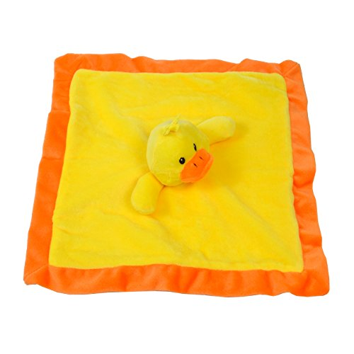 Lovey Security Blanket 12 inch Square Stuffed Animal Baby Blankie for Girls or Boys (Duck) by Baberoo (Stuffed Duck Toy)