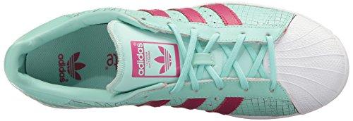 adidas Originals Women's Shoes | Superstar J, Icegrn/Icegrn/Bopink, 4M US Big Kid by adidas Originals (Image #8)
