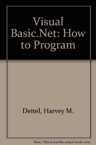 Visual Basic.Net: How to Progr...