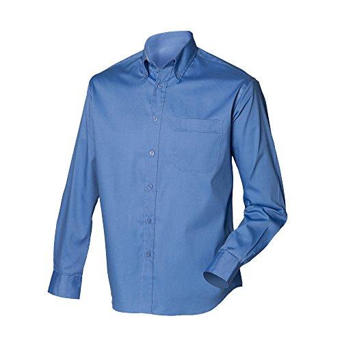 Henbury À Longues Chemise Homme Manches Bleu qpfqgwB1C