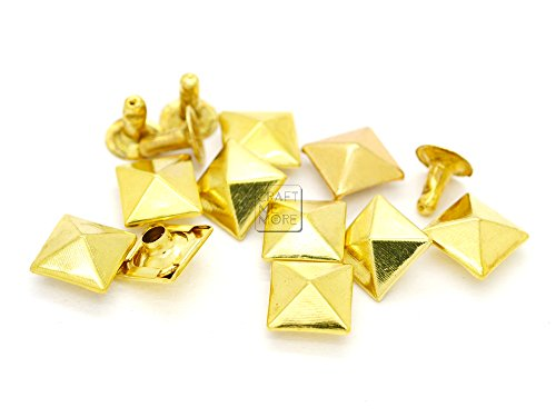 CRAFTMEmore Hexagon 5MM Hole Grommets Eyelets Studs Clothes for European Style Polymer Clay Beads Tarp Canvas 100 pcs Gold