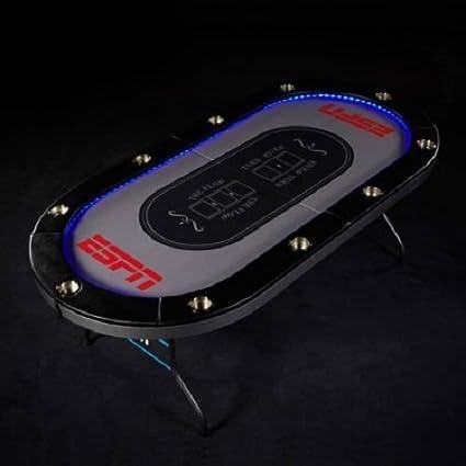 Tremendous Amazon Com Espn 10 Player Premium Poker Table With Led Beutiful Home Inspiration Xortanetmahrainfo