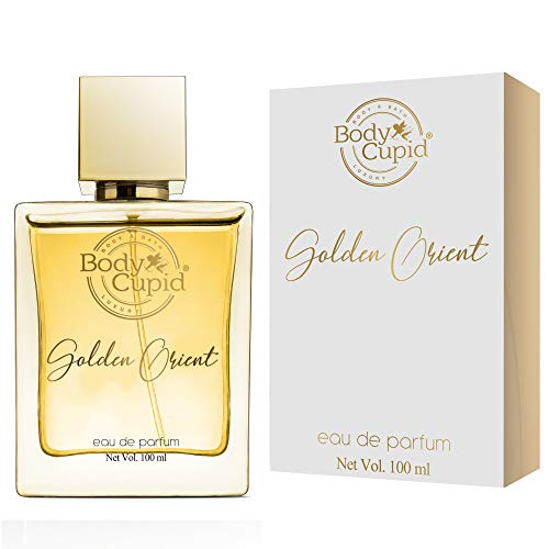 Body Cupid Golden Orient Perfume for Men & Women – Citrus, Floral, Spicy, Musky, Woody & Balsamic Notes – 100 ml