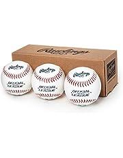 Rawlings Official League Recreational Use Baseballs, Box of 3, OLB3BBOX3 , White