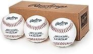 Rawlings Bola de beisebol oficial da Liga Recreacional, caixa com 3, OLB3BBOX3, branca